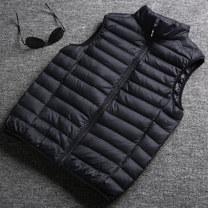 2019 Autumn and Winter Mens Fashion Boutique Duck Feather Jackets Vest