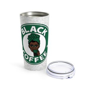 Black Coffee Sugar No Cream Custom Stainless Steel Tumbler w/Name
