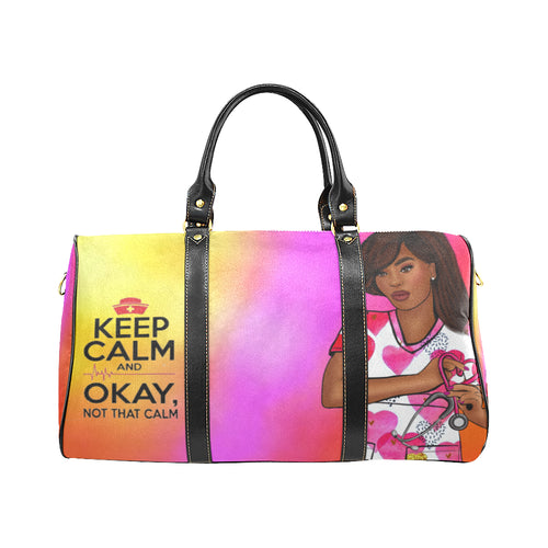 Keep Calm Nurse Travel Bag