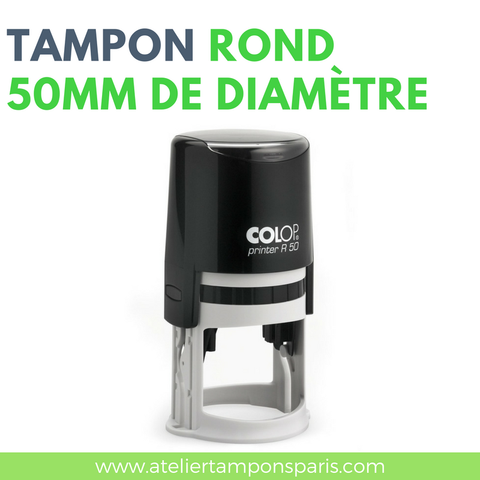 Tampon encreur automatique COLOP printer R50 dimension 50 mm de diamètre