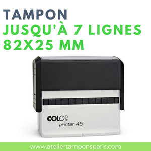 Tampon commercial printer 45 COLOP 7 lignes