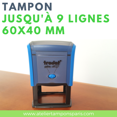 Tampon encreur automatique TRODAT printy 4927 dimension 60x40 mm
