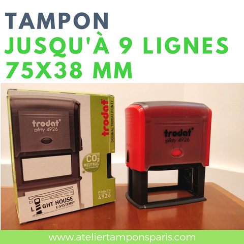 tampon encreur automatique trodat printy 4926 dimension 75x38 mm