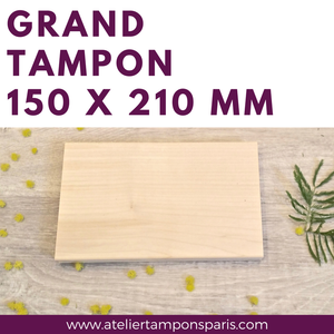 Grand tampon en bois 210 x 150 mm