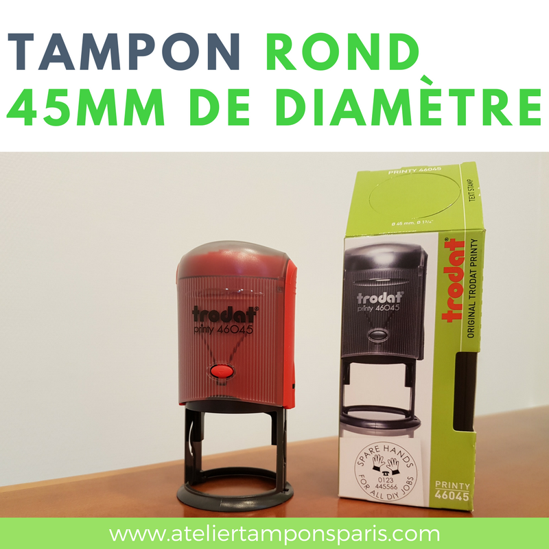 Tampon encreur automatique TRODAT printy 46045 dimension 45mm de diamètre