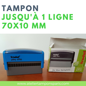 tampon encreur automatique trodat printy 4916 dimension 70x10 mm