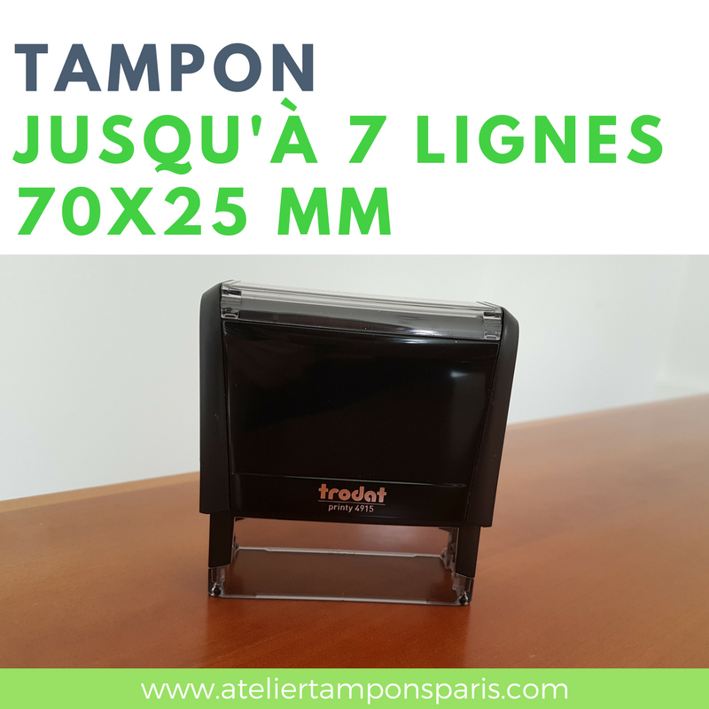 tampon encreur automatique trodat printy 4915 dimension 70x25 mm