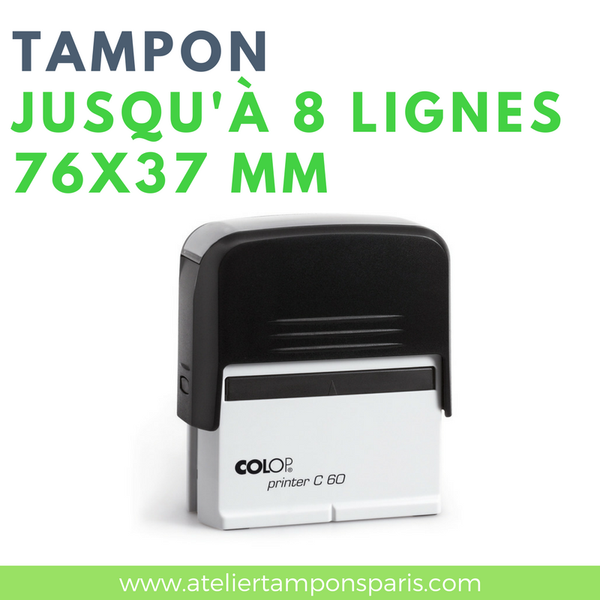 Tampon commercial grand format printer C60 COLOP 8 lignes