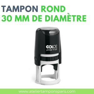 Tampon encreur automatique COLOP printer R30 dimension 30 mm de diamètre