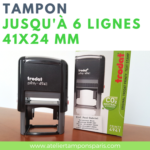 Tampon encreur automatique TRODAT printy 4941 dimension 41x24 mm