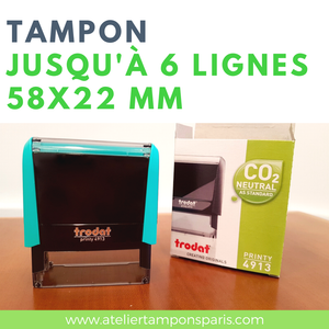 tampon encreur automatique trodat printy 4913 dimension 58x22 mm