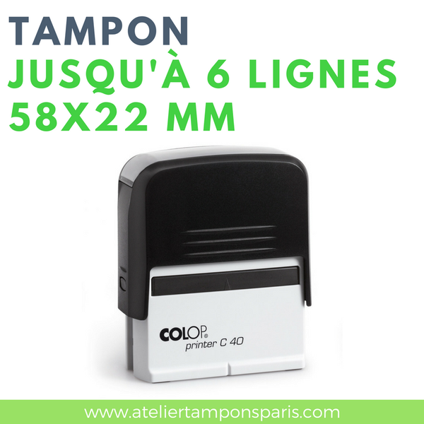 Tampon professionnel personnalisable printer C40 COLOP 6 lignes