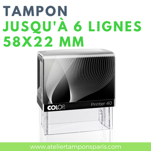 Tampon personnalisable printer 40 COLOP 6 lignes