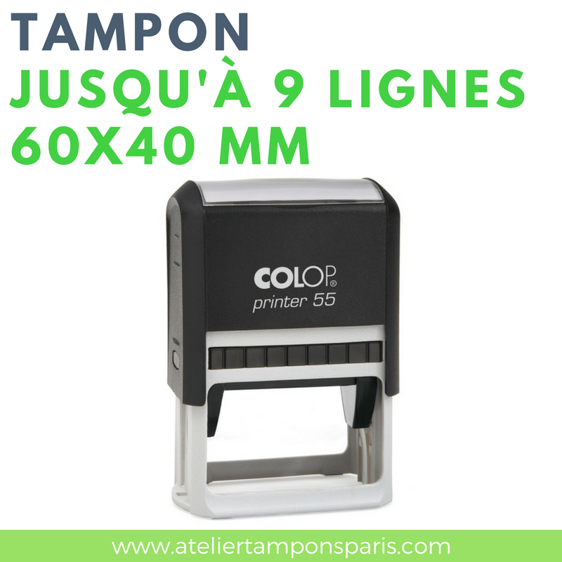 Tampon commercial printer 55 COLOP 9 lignes