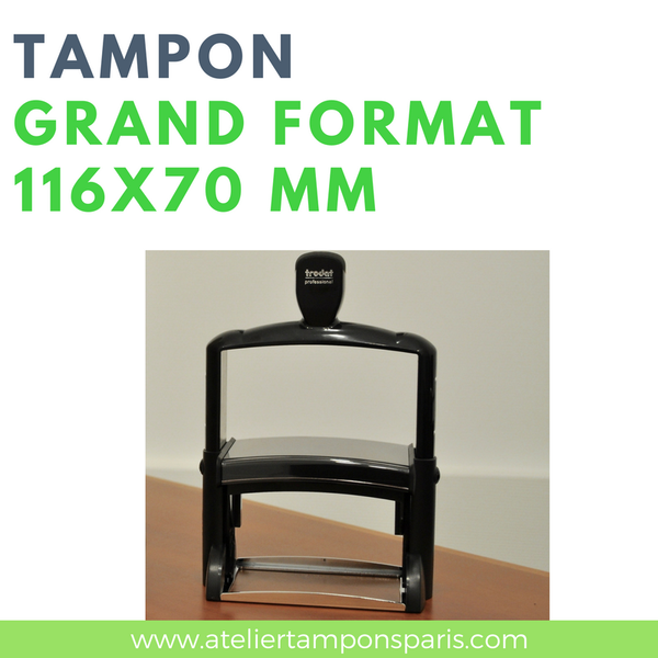 tampon encreur automatique grand format trodat 116x70 mm