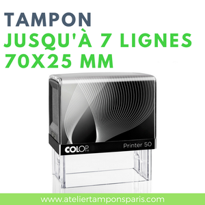 Tampon personnalisable printer 50 COLOP 7 lignes