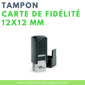 Tampon encreur automatique TRODAT printy 4921 dimension 12X12 mm