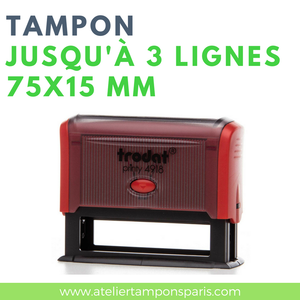 tampon encreur automatique trodat printy 4918 dimension 75x15 mm