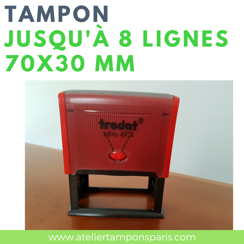 Tampon encreur automatique TRODAT printy 4931 dimension 70x30 mm