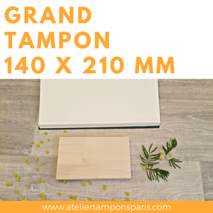 grand tampon en bois 210 x 140 mm a5