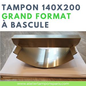TAMPON GRAND FORMAT À BASCULE 140 X 200 MM