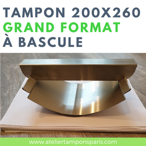TAMPON GRAND FORMAT À BASCULE 200 X 260 MM