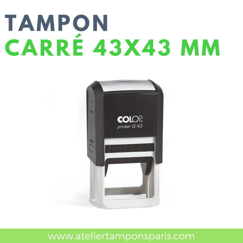 Tampon encreur automatique COLOP printer Q43 dimension 43 X 43 mm