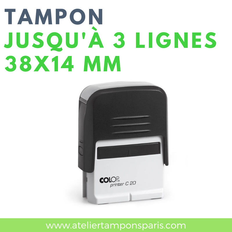 Tampon professionnel automatique printer 20 COLOP 3 lignes