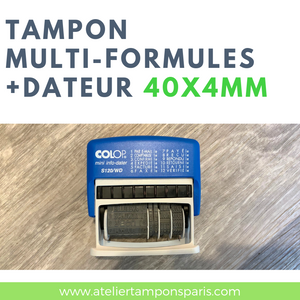 Tampon multi-formules commerciales et dateur COLOP S120/WD