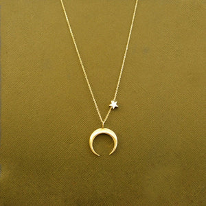 Star & Moon Pendant Necklace