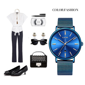LIGE Luxury Fashion Dress Watch