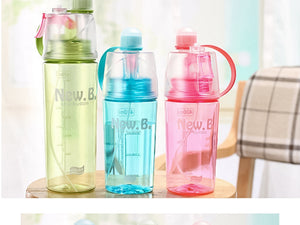 Spray Sports Water Bottle Kettle BPA Free