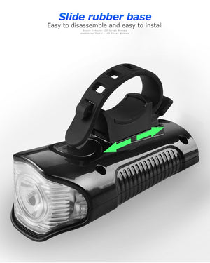 All Weather Deluxe Bicycle Light with USB Charging