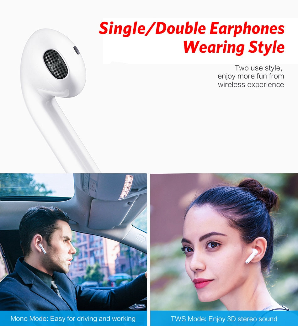 Touch Control Wireless Headphones Bluetooth 5.0