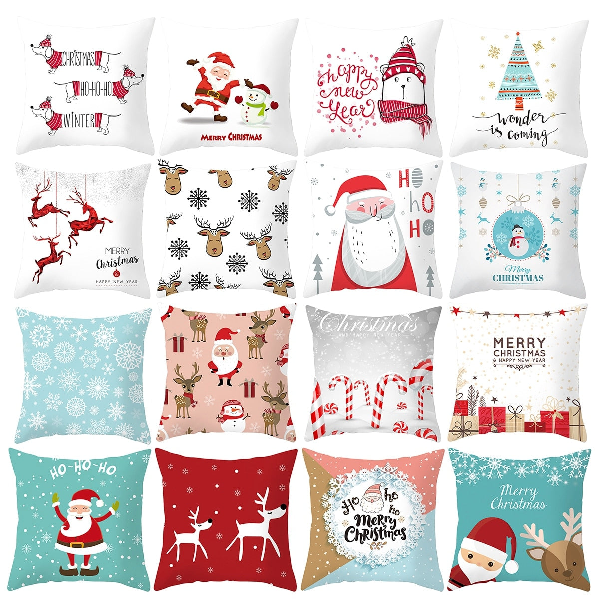 Merry Christmas Cushion Cover Decorations