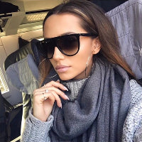 Oversized Flat Top Women's Sunglasses