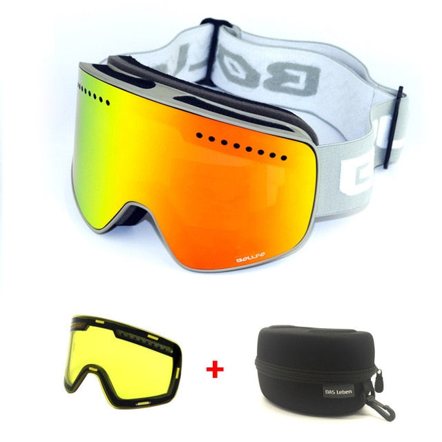 Magnetic Anti-Fog Ski and Snowboard Goggles