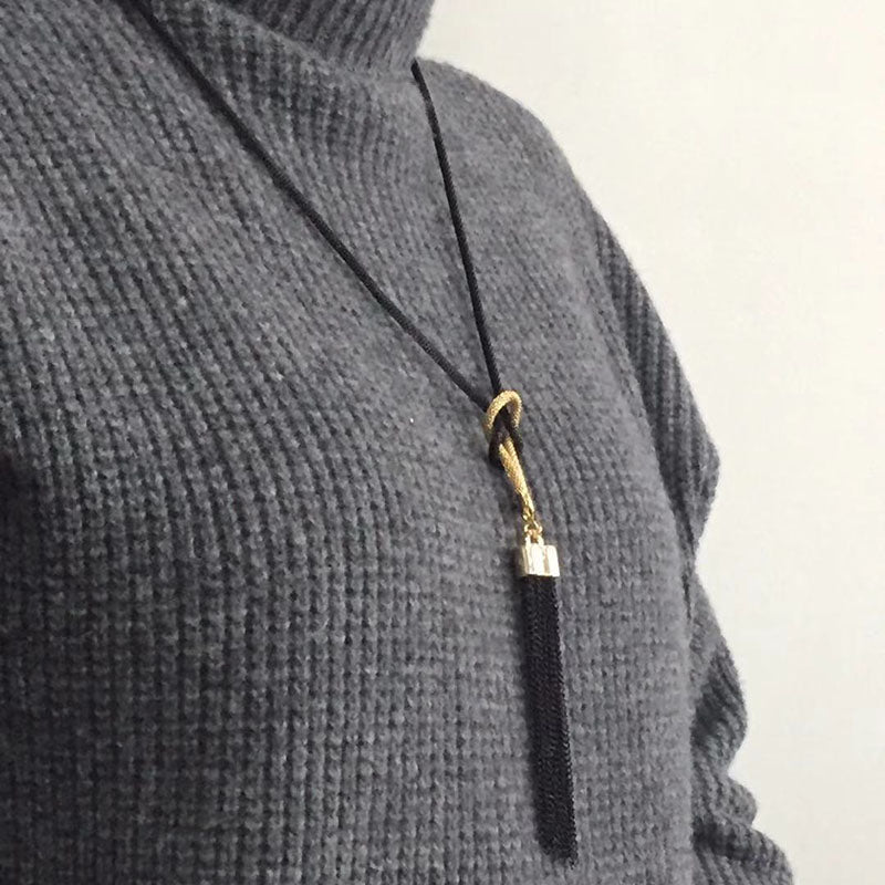 Tassel, Long Pendant Necklace