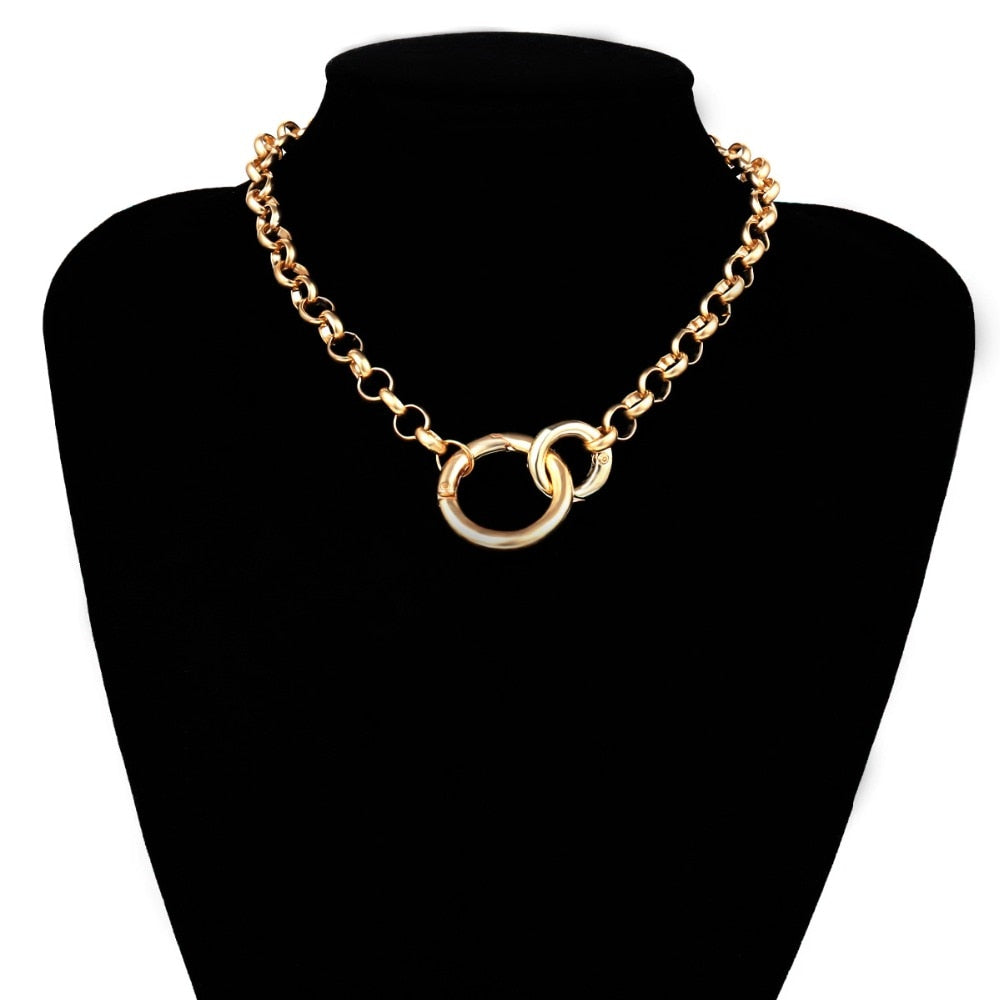 Vintage Punk Curb Chain Necklace