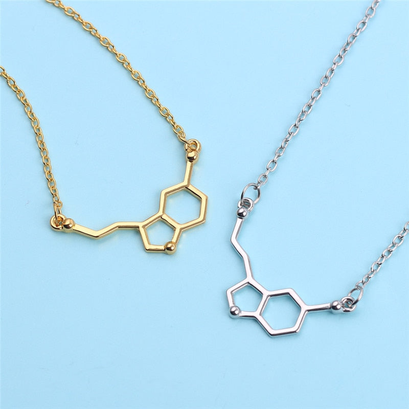 Molecule Pendant Necklaces