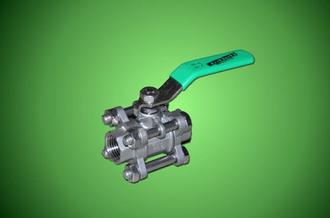 "JaDeD Dragon Valve - Stainless Steel 3 Piece 1/2"" Ball Valve"