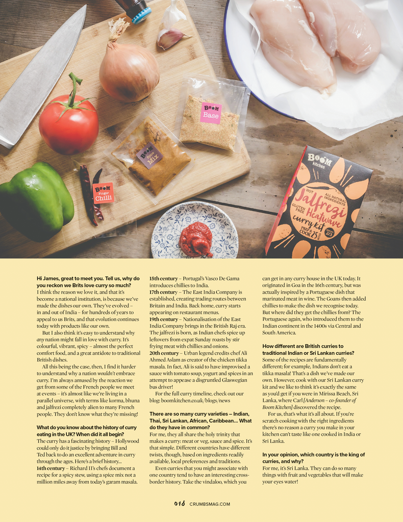ask the Curry Experts James Doel and Carl Anderson with Crumbs Magazine
