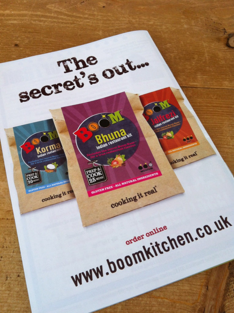Boom Kitchen Curry Kit Advertisement in TR11