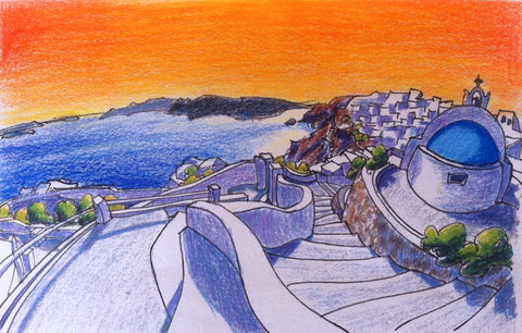 Santorini Color Sketch