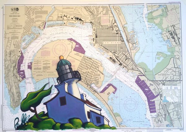 Breezy Day at Pt. Loma Nautical Chart