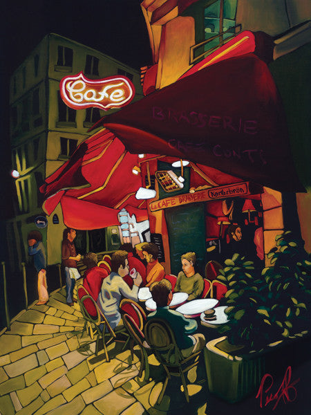 Cafe Conti Perfect Giclee on Metal