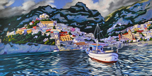 Coming Home to Positano Original Oil