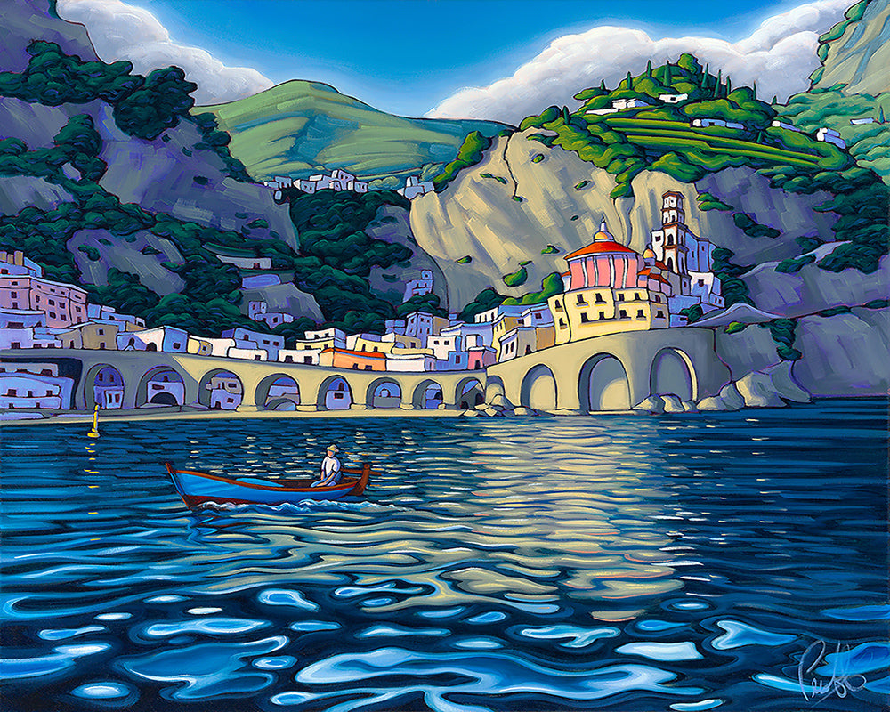 Cruising the Amalfi Matted Print 8x10 (11x14 mat)