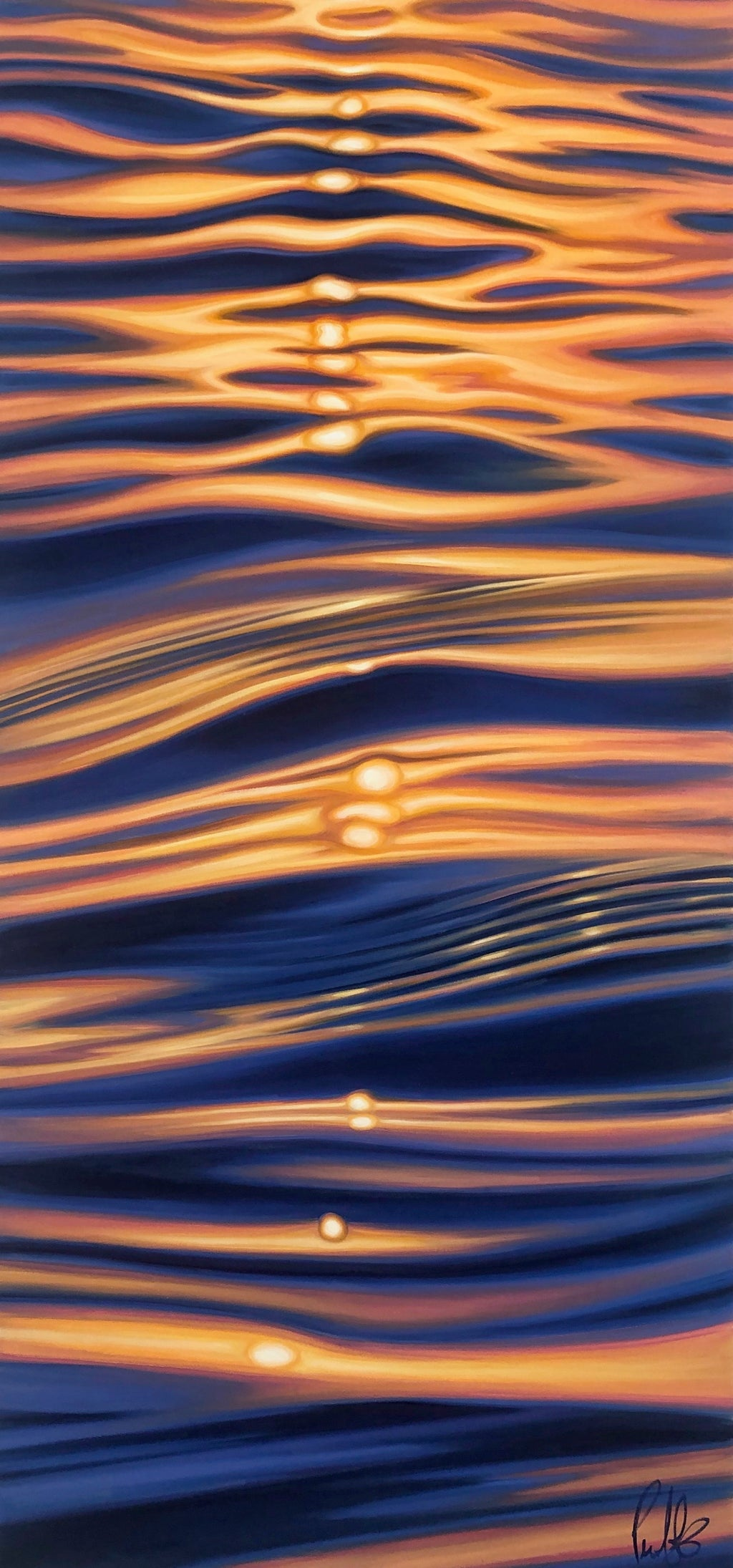 Glassy Golden Ripples of Light
