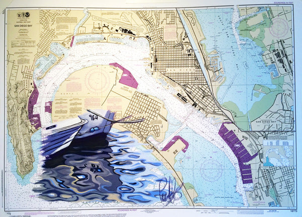 Harbor Reflections Nautical Chart